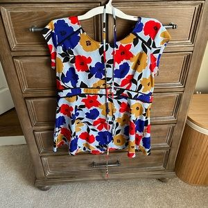 Colorful maternity blouse